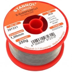 TIN 250/1.0MM-STANNOL(GERMANY)